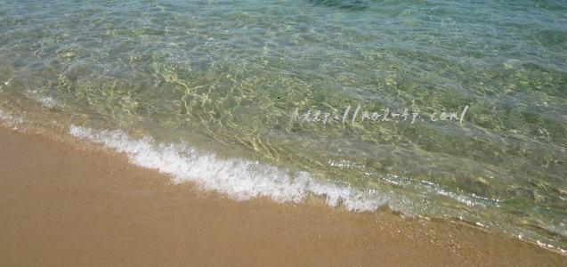 琴引浜のビーチ
