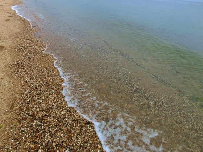 あわじ浜離宮の前のビーチ