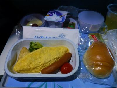 タヒチヌイの機内食2